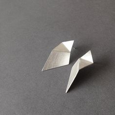 Geometric Silver Earrings, Triangle Sterling Silver Earrings, Silver Drop Earrings, Minimalist Silver Earrings, Statement Earrings - Newest Jewelry Models Silver Drop Earrings, Silver Bracelets, Sterling Silver Earrings, Statement Earrings, Stud Earrings, Cuff Bracelets, How To Clean Silver, Silver Rings With Stones, Minimal Jewelry