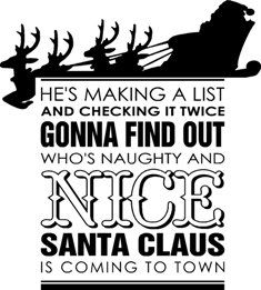 he's making list and checking it twice - Google Search
