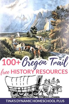 100 Oregon Trail Homeschool History Resources. You'll love this huge list of free resources to study the Oregon Trail. Free lessons plans and teacher guides for multiple ages to help you create a unique homeschool unit study. You'll love the ideas for hands-on activities, ideas, and books. CLICK here to grab an idea or two! #oregontrail #oregontrailunitstudy #westwardexpnasion #historyactivitiesforkids #homeschoolhistory Us History, American History, Pioneer Activities, History Activities, Oregon Trail, Historical Fiction, Homeschool Worksheets, Curriculum, Social Studies