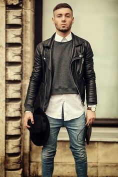 Leather jacket style
