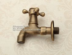 Cheap faucet mount, Buy Quality faucet brass directly from China faucet sink Suppliers: Antique Style Bathroom Wetroom Kitchen Wall Mount Sink Faucet Water Tap Spigot Bibcocks 2610010