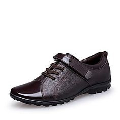 Men's Shoes Pointed Toe Flat Heel Leather Oxfords with Lace-up Shoes More Colors available