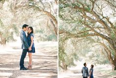 Vi and Tam Engagement Essentials: natural scenic location, old camera, and LOVE