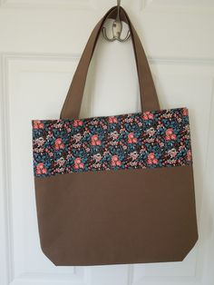 """Cotton Tote with limited edition Liberty fabric """"Rose"""" ( fabric design taken from a patchwork coverlet made in Britain dated 1797, recreated for the Victoria & Albert Museum)"""