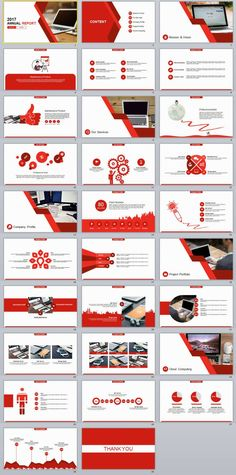 29+ red annual report PowerPoint templates