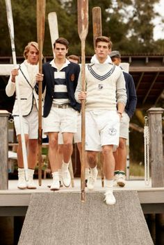 unlikely but pretty clothes for rowing....   Rugby Ralph Lauren #Preppy #Pretty #NapoleonPerdis