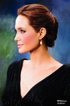 Angelina Jolie. A Portrait in Oils