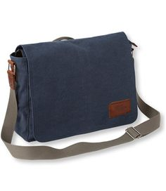 $89, Field Canvas Messenger Bag at L.L.Bean. not waterproof, but could add water repellent (spray on yourself)
