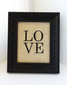 Burlap Wall ART by 505Vintage on Etsy  Think I need to have this!