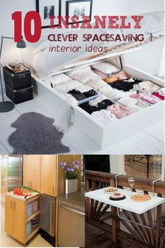 10 Insanely Clever Space-Saving Interior Ideas