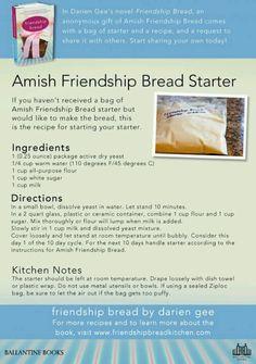 Amish bread starter