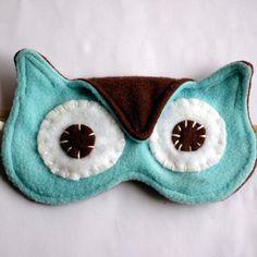 Softest Cutest Most Comfy Night Owl Sleep Mask by lenekonoir