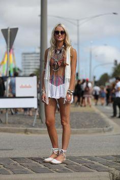 melbourne street fashion style. st kilda festival!