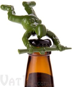 Army Man Bottle Opener $13.50 Die-Cast Metal Army Man Bottle Opener- Marshall would love this