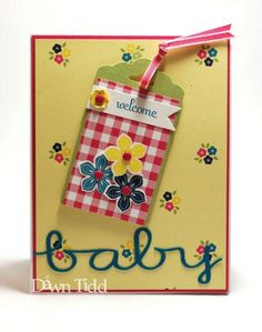 Welcome, Baby by marmie43gs - Splitcoaststampers  Gingham Garden DSP by Stampin UP!