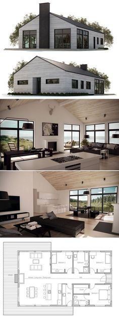 This is genius! From the pictures, you wouldn't even kno… Small House Plan. This is genius! From the pictures, you wouldn't even know it's a small house! Love the open and shared space Of the kitchen, living room, and dining room! Modern House Plans, Small House Plans, House Floor Plans, Building A Container Home, Container House Plans, Container Homes, Barndominium Floor Plans, Casas Containers, House Layouts