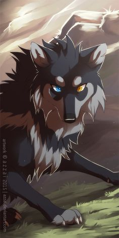 Two face wolf fire and ice Artwork Lobo, Wolf Artwork, Anime Wolf Drawing, Furry Drawing, Anime Art, Arte Furry, Furry Art, Cute Fantasy Creatures, Mythical Creatures Art