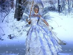 This is actually Snow Beauty Fairy Background Wallpaper but it has possibilities as a fashion doll dress