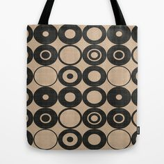 Black Orbs Tote Bag by Chicca Besso - $22.00