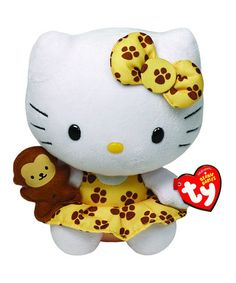 Loving this Safari Hello Kitty Plush Toy on #zulily! #zulilyfinds