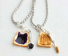 The peanut butter and jelly sandwich necklaces are a cute twist on the heart necklaces broken in half and worn between two good friends. Now all you have to...