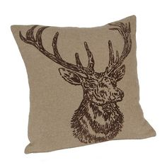 Flocked Wool Deer Pillow | Kirklands