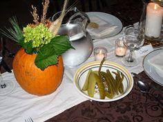 The Meanie Greene: Tutorial: Pumpkin Flower Arrangement