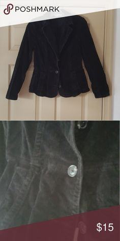 Vintage Peacoat Vintage black corduroy blazer. Has three buttons on the front. Jackets & Coats