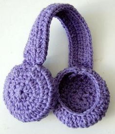 Crochet Earmuff Headband ~ easy level ~ FREE - CROCHET ~ attach some strands of yarn to tie muffs down or attach some lining to keep your ears toastier