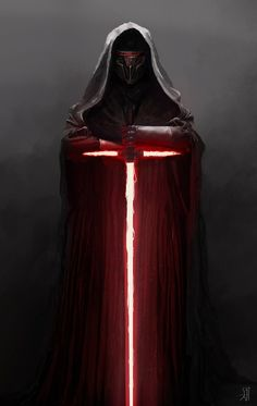 Revan with Kylo's saber. Normally, I'm not a huge Kylo fan, but gotta admit this looks epic