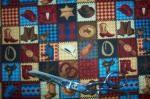 Wrangler's Squares F 1176 Fabric