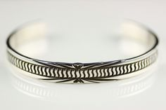 Native American Navajo .925 Sterling Silver Cuff Bracelet By Rick Enriquez by LoudCrowTrading on Etsy