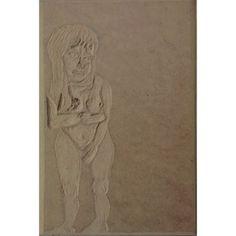 Mujer (placa de madera)