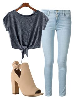"""Untitled #70"" by sydwright17 ❤ liked on Polyvore featuring Frame Denim"