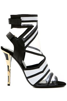 Balmain 2015 SS ~ Ankle Strap Stiletto Sandal, Black, White