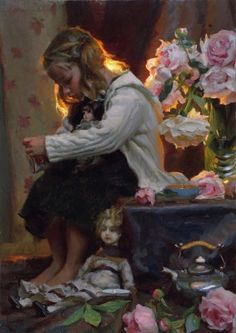 Warm Light - Mike Malm-Precious things.  I saw this painting in person- it would pull you in from across the street. incredible.