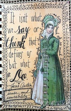 Jane Austen ~The Beautiful Work on Julie Smith Campbell of A Vintage Chic~
