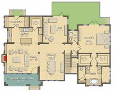 4 Bed Modern Farmhouse Plan - 25406TF | Country, Farmhouse, 1st Floor Master Suite, Bonus Room, In-Law Suite, Corner Lot | Architectural Designs