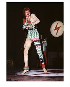 David Bowie onstage in a Kansai jumpsuit, 1973. Photo: Mick Rock