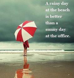 #rain #beach