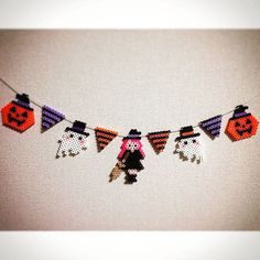 Halloween garland perler beads by ringo_0122