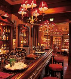 Medici, Baden Baden, Germany...the bar and cigar lounge!