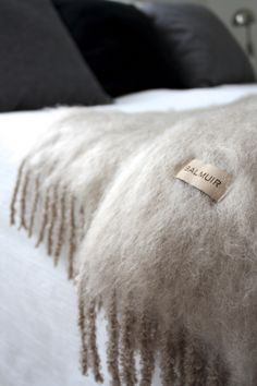 Homevialaura | Bedroom | Balmuir Kid Mohair throw in taupe