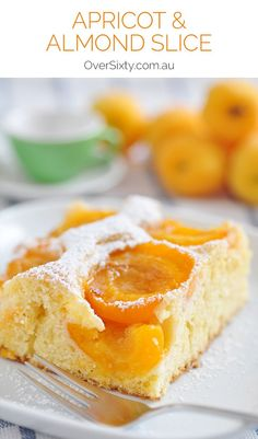 and almond slice Apricot & Almond Slice Pin - an old-fashioned baking favourite. Whip this up for a delicious afternoon tea treat.Apricot & Almond Slice Pin - an old-fashioned baking favourite. Whip this up for a delicious afternoon tea treat. Fruit Recipes, Wine Recipes, Sweet Recipes, Baking Recipes, Dessert Recipes, Apricot Slice, Apricot Cake, Peach Coffee Cakes, Apricot Recipes