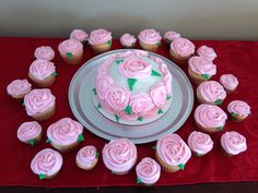 Dozens of roses! White cake with chocolate ganache filling and buttercream frosting