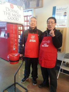 Bell ringers for The Salvation Army Alaska -Anchorage Korean Corps encourage donations -2014.
