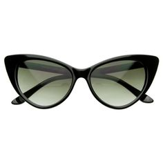 Super Cateyes Vintage Inspired Fashion Mod Chic High Pointed Cat-Eye Sunglasses - A distinct mod version of 50s-inspired cat eye sunglasses with high pointed corners. You'll find they can work with many outfits, from the very modern to the utterly vi