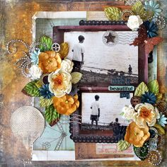 Prima layout by Cari Fennell using Craftsman Collection