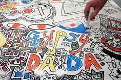 Gypsyland 2012 Damian Le Bas & Gabi Jimenez Kai, Exhibition, Collages, Paintings, Cards, Paint, Painting Art, Maps, Painting