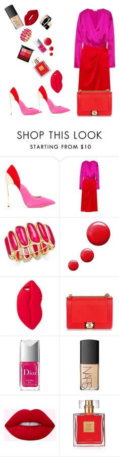 """Red&PinkLooK"" by ludyabelieveinme ❤ liked on Polyvore featuring Casadei, Attico, Charter Club, Topshop, STELLA McCARTNEY, Chanel, Christian Dior, NARS Cosmetics, Avon and MAC Cosmetics"